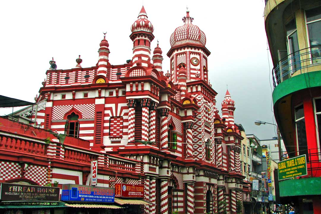 Colombo red mosque
