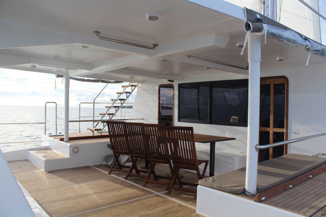 Trincomalee sail boat deck