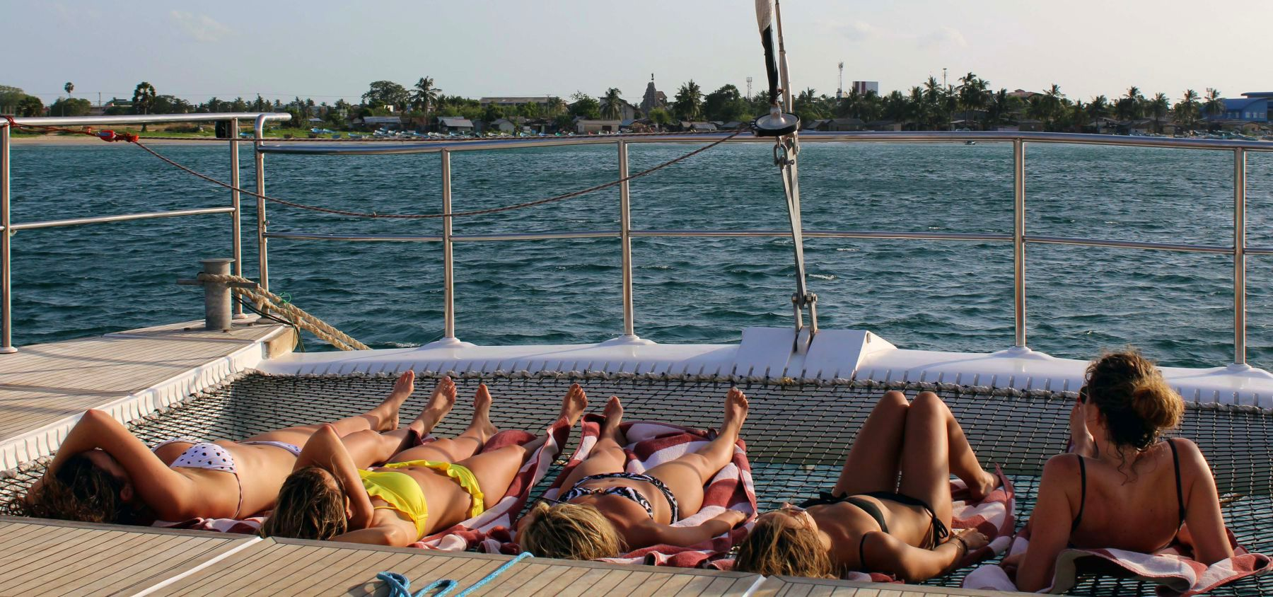 Relax on the sail boat