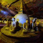 dambulla cave temple stupa