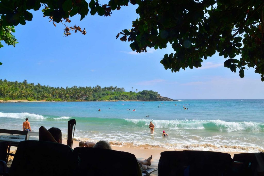 Unawatuna beach leisure